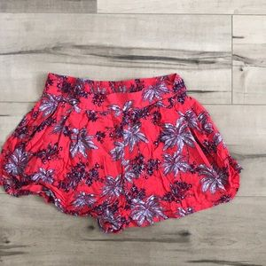 Red Tropical Shorts